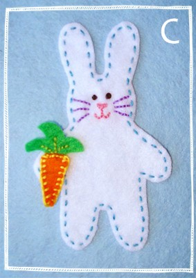 Craft Ideas  Buttons on Instructions For Easter Craft Ideas  Felt Easter Garland