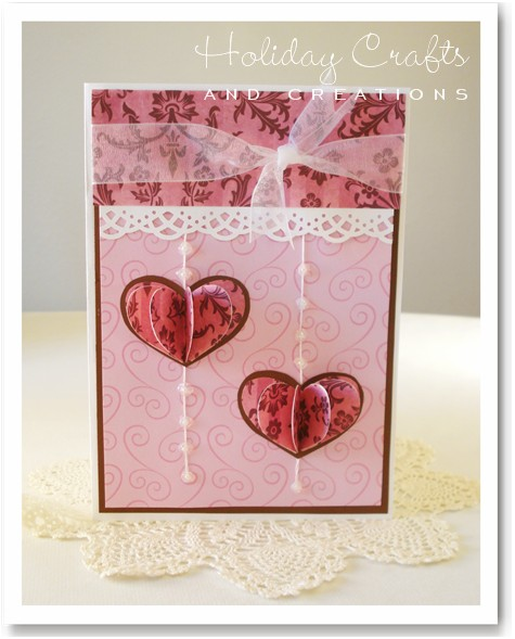 Homemade Valentine Cards 3D Hearts – Homemade Valentine Card