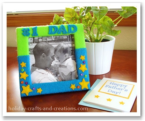 Homemade Fathers Day Gifts Felt Frame