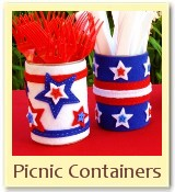 tin can crafts, 4th of july crafts