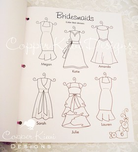 DIY: Wedding Coloring Book | BridalBuds - Real Weddings, Wedding