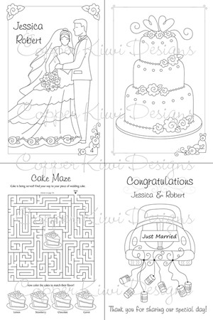 Fine Wedding Coloring Book Pages Free Illustration