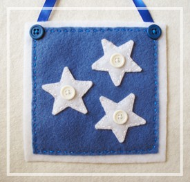 Beginner Sewing Patterns: Patriotic Wall Hanging