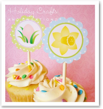 Craft Ideas Etsy on Easter Cupcake Toppers   Informed Is Forearmed