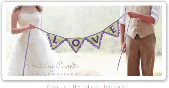 DIY Wedding Decorations: Easy-To-Sew Banner