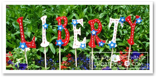 Garden Craft Ideas Patriotic Yard Signs