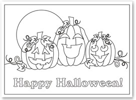 Halloween Coloring Pages  Kids on Free Halloween Coloring Sheets