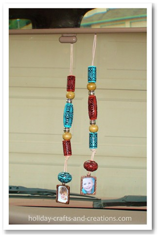 Homemade Fathers Day Gifts Beaded Rear View Mirror Charm