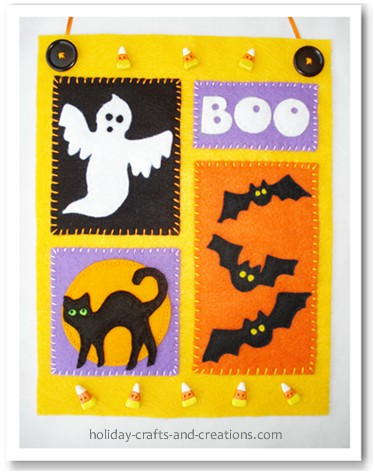 Craft Ideas  Home Decor on Homemade Halloween Decorations  Mini Halloween Banner