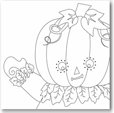 picture relating to Printable Holloween Crafts called Printable Halloween Crafts For Young children: Hinged Pumpkin Male