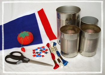 Tin Can Crafts: Patriotic Picnic Containers