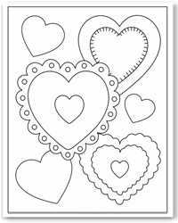 Valentines  Heart Coloring Pages on Coloring Pages  Valentines Day Coloring Pages  Hearts Coloring Pages