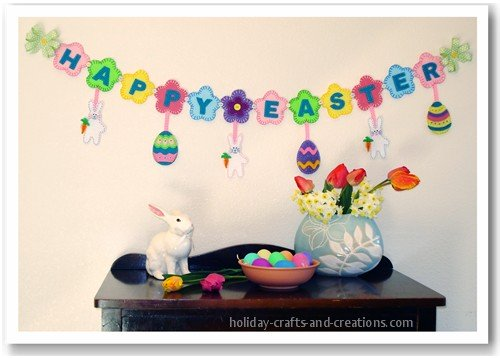 Easter craft ideas, easter garland