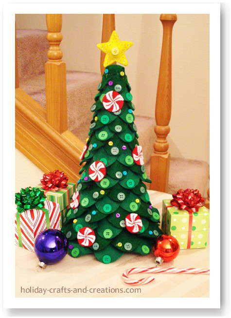 Homemade Centerpieces Felt Christmas Tree Centerpiece