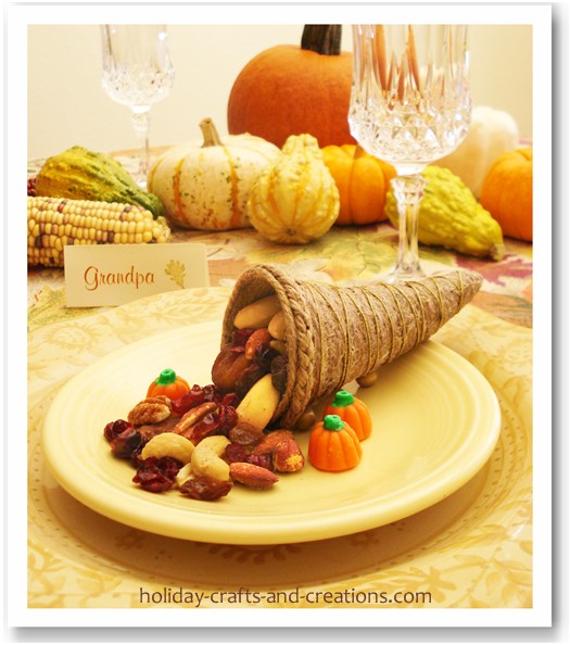 Thanksgiving crafts to make, cornucopia
