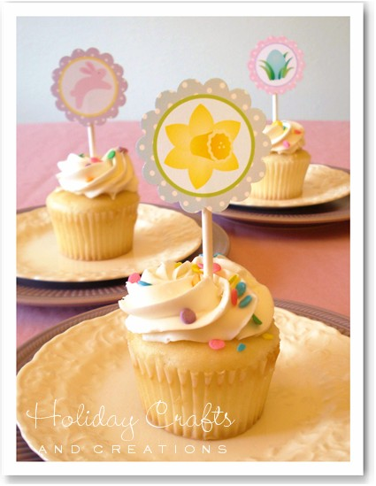 Easter cupcake decorating ideas printable toppers for Cute cupcake decorating ideas for easter