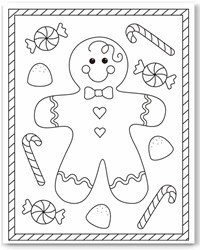 christmas color page - Free Christmas Coloring Pages