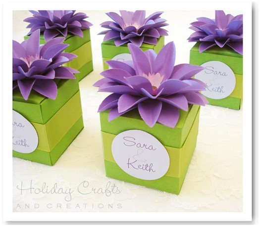 Wedding Gift Box Pattern : Free Gift Box Templates For Wedding Favors