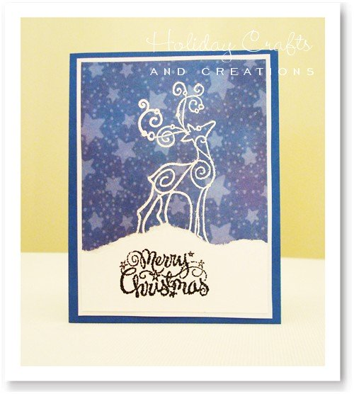 Make your own christmas cards embossed reindeer m4hsunfo