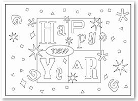 festive coloring page - New Years Coloring Pages
