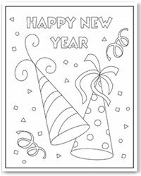 New Years Coloring Pages