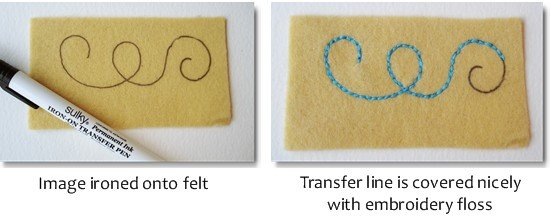 transfer designs onto felt