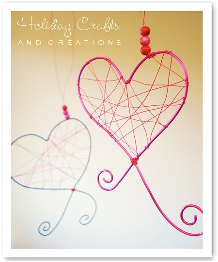 homemade valentine decorations wire hearts